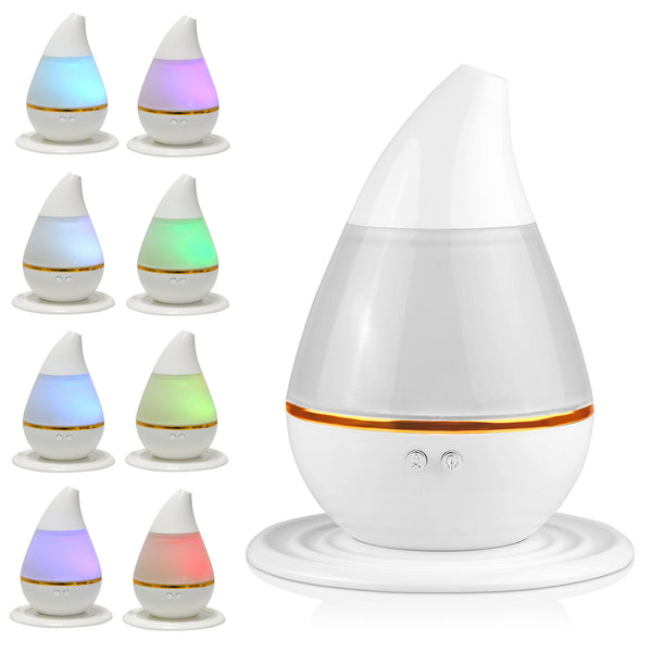 Mini 200ml Ultrasoni Cool Mist Humidifier Diffuser Air Purifier Nebulizer for Home Office Room Car with 7 Color Changing LED Light USB Plug