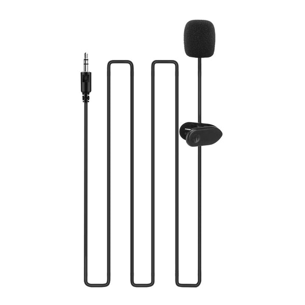 3.5mm Lavalier Microphone Portable Mini Plug Microphone Hands Free Collar Clip Mini Lapel Microphone for Computer Smartphones