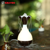 USB Air Humidifier Essential Oil Diffuser Aroma Lamp Aromatherapy Electric Aroma Diffuser Mist Maker for Home-Wood