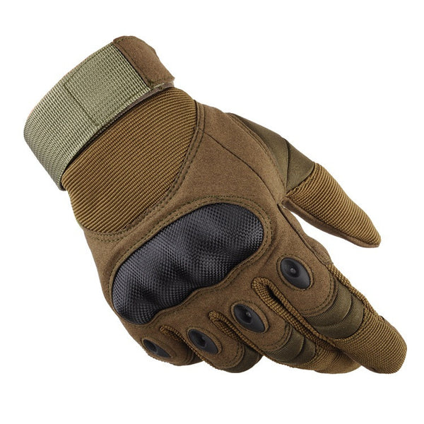 Outdoor Tactical Gloves Full Finger Sports Hiking Riding Cycling Military Men's Gloves Armor Protection Shell Gloves