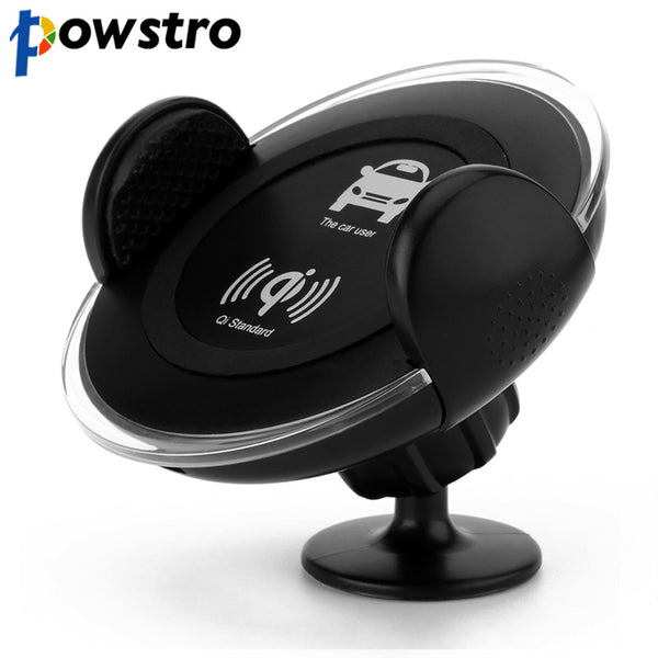 Powstro Car Wireless Charger Phone Charger Car Mount Air Vent Mobile Phone Holder For Samsung Galaxy Note 5 Edge Charger Adapter
