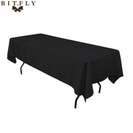 10pcs Rectangular Satin Tablecloth Table cloth Cover for Wedding Party Restaurant Banquet Decorations black