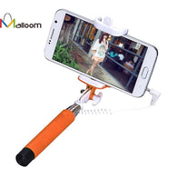 Wired Selfie Stick Handheld Monopod Extendable Handheld Self-Pole Tripod Monopod Stick For Smartphone for iPhone Samsung Selfie