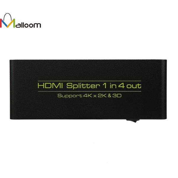 HDMI Splitter 5 Port Hub Box 1 In 4 Out Switcher 3D 1080p HD 1.4 HDMI Splitter For PS4 For Xbox 360 Retail Package Gift #201