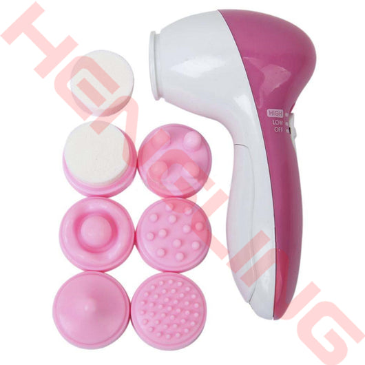 Multifunctional Deep Clean 6 in 1 Electric Facial Cleaner Skin Care Brush Massager Scrubber Facial Spa Skin Beauty Care Tools