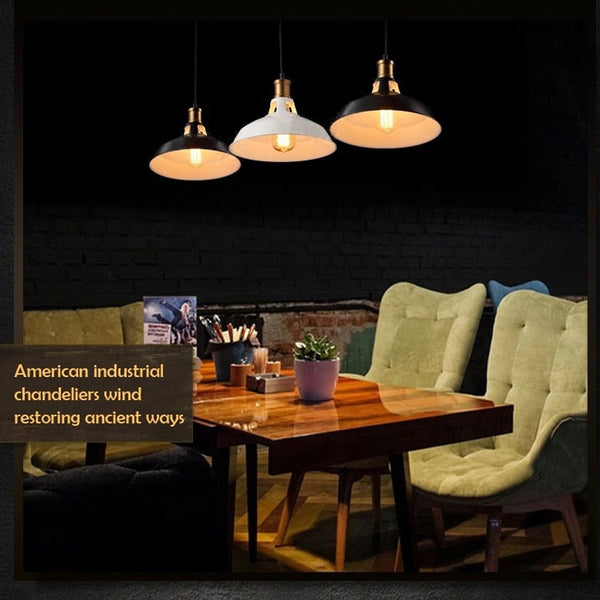 27cm Diameter E26 E27 Village Pendant Lights Lampshade AC 110V 220V American Country Style Restaurant Bar Coffee Shop Lighting