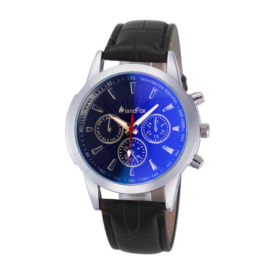 Mens Luxury Fashion Crocodile Faux Leather Analog Watch Watches