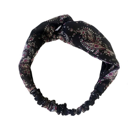 Brand Bohemia Headbands Fitness Hair Accessories For Women Floral Printed Lacy Stretchy Wide Head Band Turban Hairband