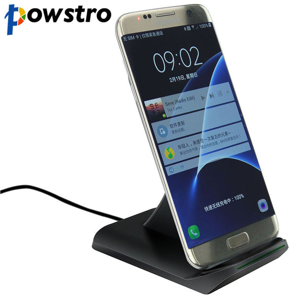 POWSTRO QI Wireless Phone Charger 5V 2A Max Fast Charge Wireless Phone Charger For Samsung Galaxy S7 S6 Edge Plus Note 5