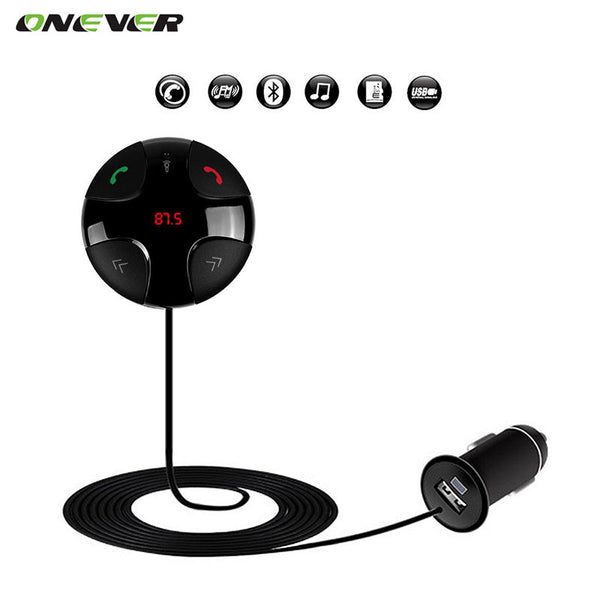 Wireless FM Transmitter Bluetooth Car MP3 Player Audio Support TF SD Card LCD Display Car Charger For iPhone Android Phone
