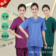 2017 Cotton made Medical uniforms Hospital Lab Coat Women Hospital Medical Scrub Clothes Uniform Breathable work wear blouses