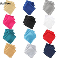 Ourwarm 100pcs Wedding Table Napkins 30cm Knitted Table Napkin Satin Handkerchief Cloth Dinner Wedding Decoration Party Event