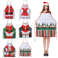 New Christmas Aprons Ladies Men Christmas Decorations Aprons for Home Funny Novelty Kitchen Cooking Apron