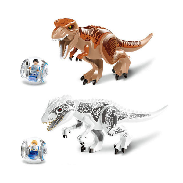2 Pcs/set 79151 Jurassic World Dinosaur Bricks Marvel Building Blocks Toys Brick Figures Compatible Park with Dinosaurs