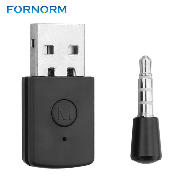 FORNORM 3.5mm Wireless Dongle Bluetooth4.0 Receiver for PS4 Male to Female USB Adapter Stable Performance for Bluetooth Headsets
