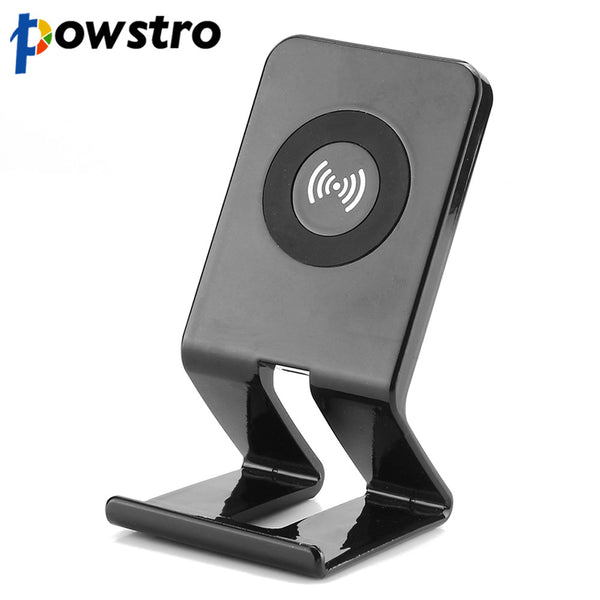 Powstro QI Standard Wireless Charger 5V 1A Output Phone Charger Adapter Stand Style For Samsung S7 S7 Edge Note5 for Huawei W3
