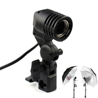 GODOX Photo Slave Flash Swivel Adapter Lamp Bulb Holder E27 Socket Umbrella Bracket