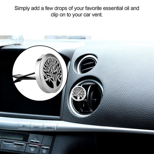 AOZBZ Stainless Steel Magnet Car Air Vent Freshener Perfume Clip-on Car Aromatherapy Oil Fragrance Diffuser Car Air Purifier