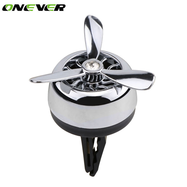 Car Air Vent Air Freshener Mini Fan Aircraft Head Air Fresheners Clip-on Aromatherapy Perfume Fragrance Diffuser Air Purifier