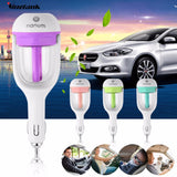 Car Humidifier Air Purifier Freshener 50ML Essential Oil Diffuser Aromatherapy DC 12V Portable Auto Mist Maker Fogger 4Colors