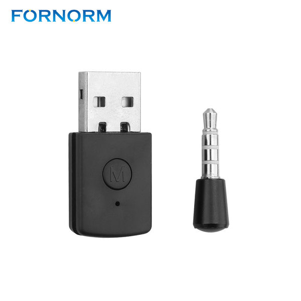 FORNORM 3.5mm Bluetooth Receiver 4.0 EDR USB Bluetooth Dongle USB Adapter For PS4 Stable Performance For Bluetooth Headsets