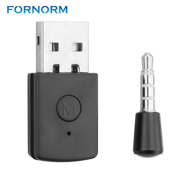 FORNORM Wireless USB Bluetooth Receiver V4.0 Bluetooth Dongle Music Sound Adapter for PS4 Controller Gamepad TV PC Headsets