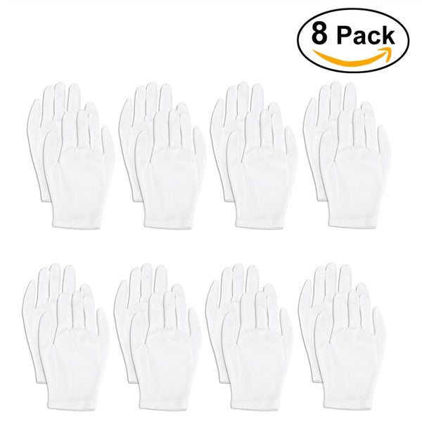 Foxnovo Lightweight Nylon Protective Glove Film Handling Glove Working Glove - 8 pairs/set