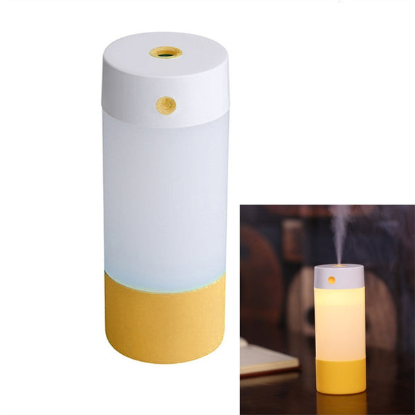 Mini USB 250ml Ultrasonic Air Humidifier Mist Maker Aroma Diffuser with LED Nightlight Lamp Portable Air Purifier for Car Home Use
