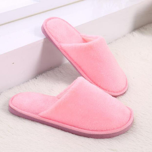 HEE GRAND Women Winter Indoor Slippers Light Candy Colors For Lovers Causal Shoes Slip on Warm Slippers Women's Shoes XWT1020