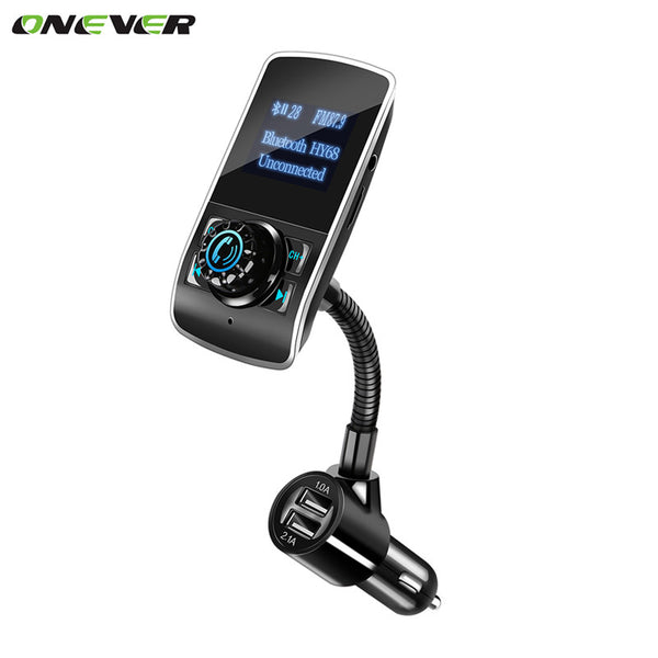 Onever Car MP3 Audio Player Bluetooth FM Transmitter Wireless FM Modulator Car Kit HandsFree LCD Display USB Charger for phones
