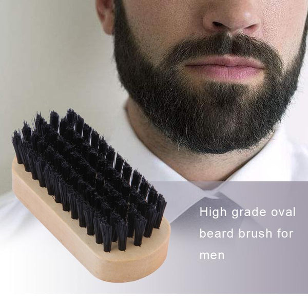 1pc Men Beard Brush Wood Handle Face Mustache Styling Massage Comb Cleaner Men's Shaving Brush Face Massage