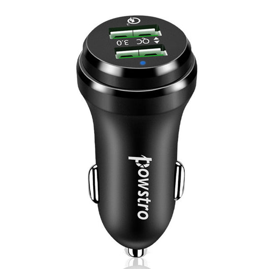 Powstro Dual QC 3.0 USB Charger 36W Mobile Phone Car Charger Quick Charge 3.0 2.0 Phone Adapter For Samsung S8 S7 Xiaomi HTC