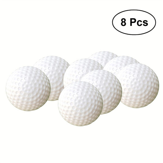8pcs Plastic Golf Balls Game Toy Balls Indoor Outdoor Practice Balls for Kids Children Golfer