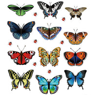 New Landscaping Decoration Heart Shaped Stickers 12 Butterfly Stickers