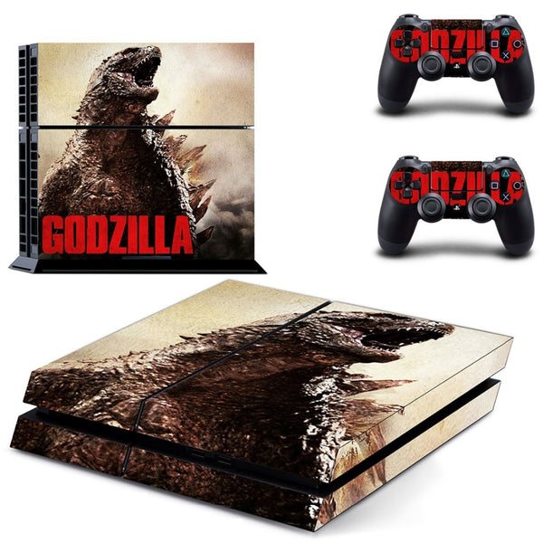 PS4 Godzilla Vinyl Sticker Skin Decal Sticker For PlayStation4 Console and 2 controller skins