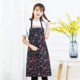 Chili Style Unisex Solid Cooking Kitchen Restaurant Bib Apron with Pocket