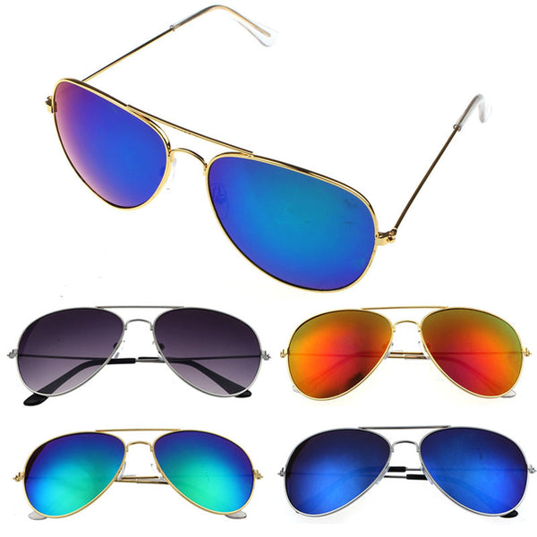 Women Men Classic Unisex Retro Sunglasses Metal Frame