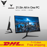 Onebot AK22 21.5in All in One Desktop Computer Gaming PC Dual Core Intel Celeron 3865U 4GB DDR4 RAM 120G SSD 16:9 FHD 178D angle