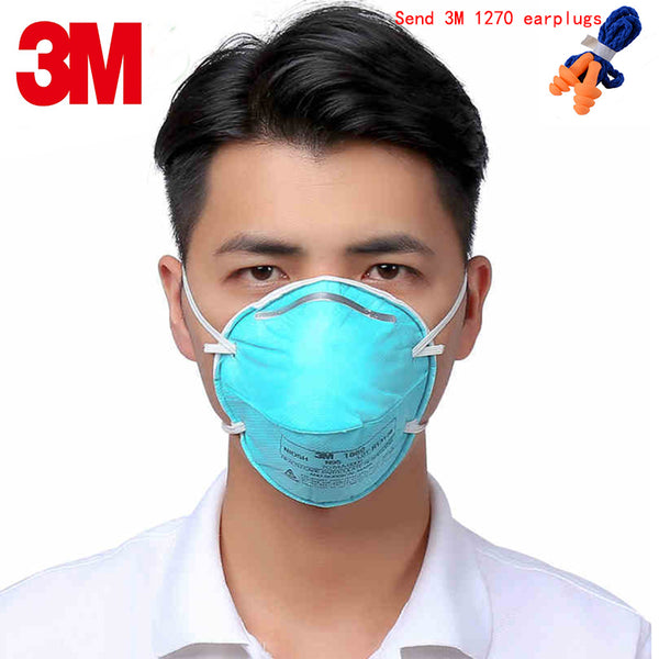 Sold out 3M 1860 N95 respirator mask green Medical mask against Pathogenic microorganisms particulates Infectious pathogens filter mask