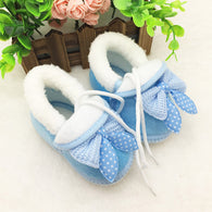 Toddler Infant Newborn Baby Bowknot Shoes Soft Sole Boots Prewalker Warm Shoes