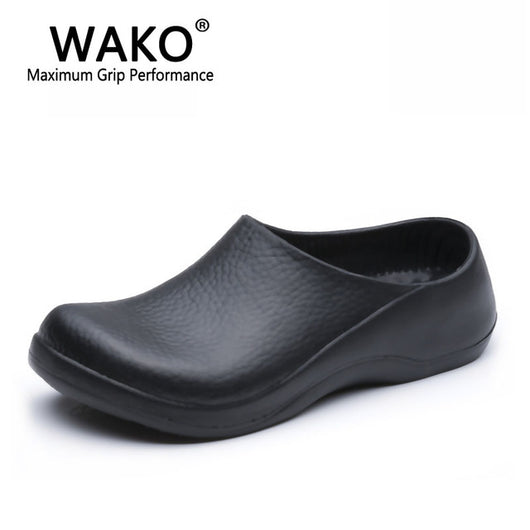Wako 9051 Chef Shoes For Men Black Sandals For Kitchen Restaurant Work