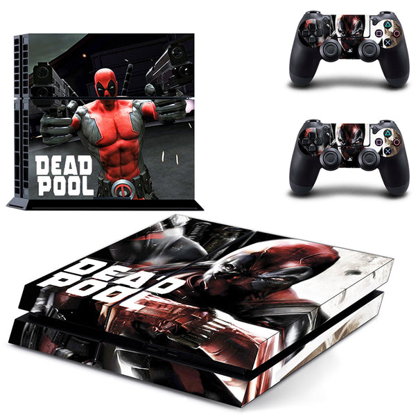 OSTSTICKER Dead Pool Vinyl PVC Decal skin stickers for Playstation 4 PS4 skin stickers +2 controller free shipping