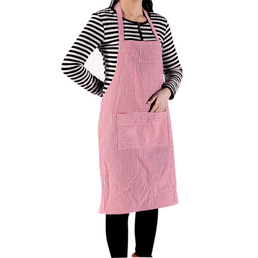 Cotton Stripe Kitchen Apron Kitchen Chef Butcher Restaurant Waiter Cooking Aprons Household Cleaning Tools