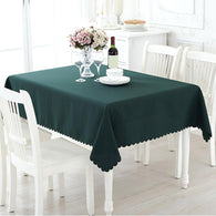 Solid Polyester Tablecloth Rectangle Table Cloth for Restaurant Hotel Dinning Table Cover Home Kitchen Decoration