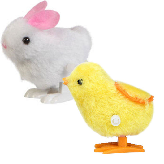 New Infant Child Toys Hopping Wind Up Easter Chick and Bunny