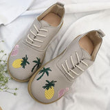 HEE GRAND 2018 New arrive Women's Flats PU Leather lace-up Woman Solid Shoes Spring&Summer Slip-on Ladies Shoes 35-39 XWD6378