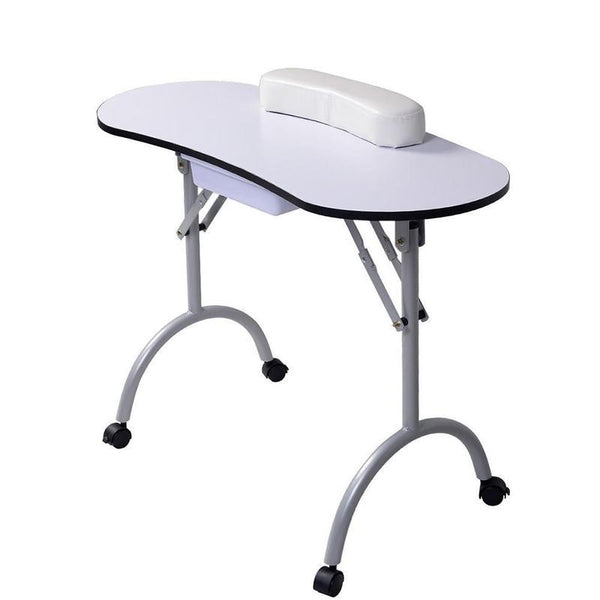 Pedicure Manicure Nail Table Station Desk Spa Beauty Salon Equipment Black White Equipment For Nails Foldable Nail Table