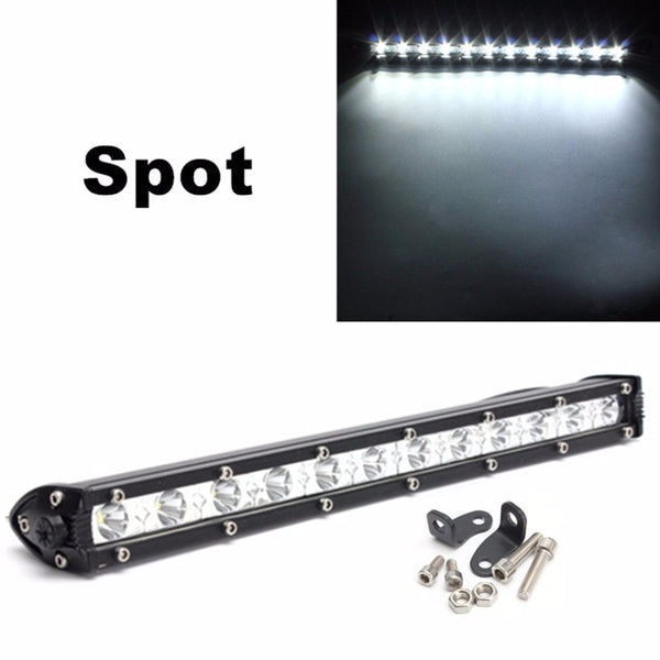 13 Inch 36W Car LED Work Light Spot Light Bar Super Bright Safety Driving Light Waterproof Off road Lamp For JEEP SUV ATV