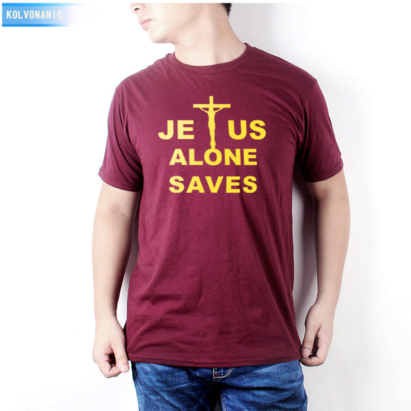 7d4a41219adab ... Men Casual Short Sleeve Top Tees. Regular price  17.82. KOLVONANIG 2018 Summer  Jesus Alone Saved My Life Printed T Shirt Prayer Christian Tshirts O-
