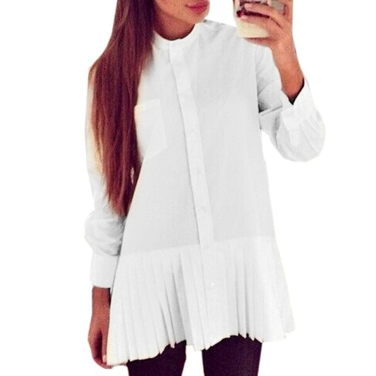 Blusas Femininas 2018 Women Blouses Fashion Long Sleeve White Shirt Ladies Summer Autumn Chiffon Tops For Women Clothing White
